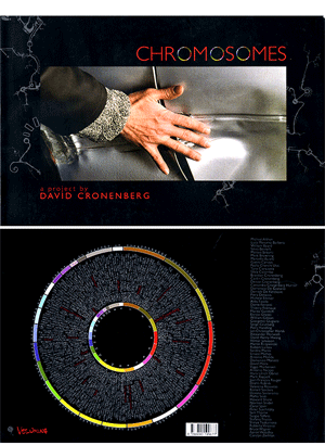 Circos used for illustrating Chromosomes - an art book featuring stills from movies by David Cronenberg (300 x 410)